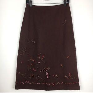 NWT Banana Republic Burgundy/Wine Wool Skirt 4